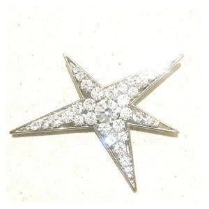 Sparkling Crystal Star Brooch